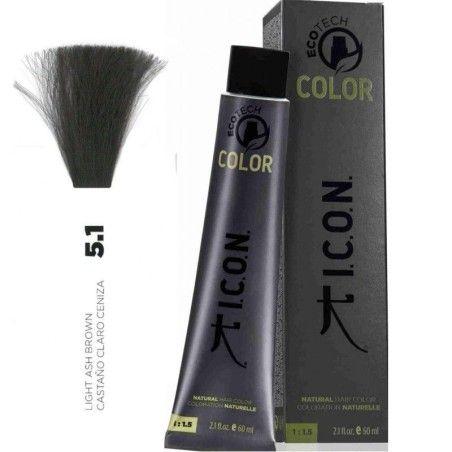 Tinte ICON Ecotech Color Castaño Claro Ceniza 5.1