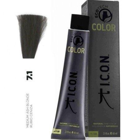 Tinte ICON Ecotech Color Rubio Ceniza 7.1