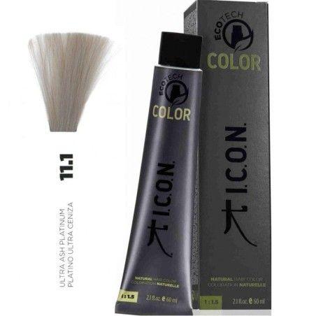 Tinte ICON Ecotech Color Platino Ultra Ceniza 11.1 sin alcohol, amoníaco ni ppd