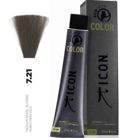 Tinte ICON Ecotech Color Rubio Perlado 7.21 sin alcohol, amoníaco ni ppd