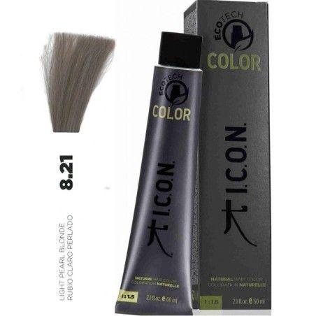 Tinte ICON Ecotech Color Rubio Claro Perlado 8.21