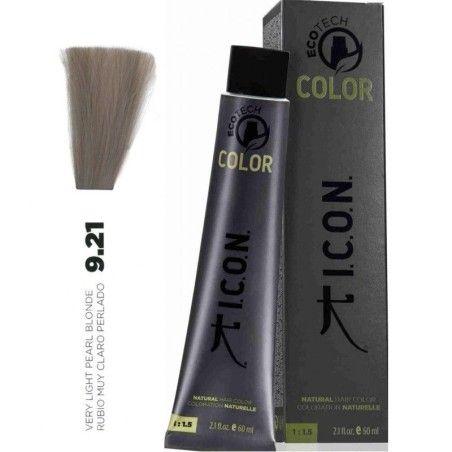 Tinte ICON Ecotech Color Rubio Muy Claro Perlado 9.21 sin alcohol, amoníaco ni ppd