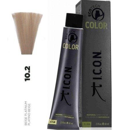 Tinte ICON Ecotech Color Platino Beige 10.2 sin alcohol, amoníaco ni ppd