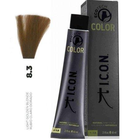 Tinte ICON Ecotech Color Rubio Claro Dorado 8.3