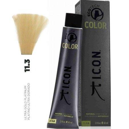 Tinte ICON Ecotech Color Platino Ultra Dorado 11.3 sin alcohol, amoníaco ni ppd