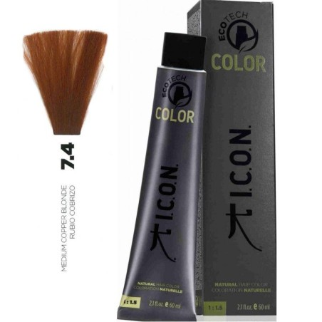 Tinte ICON Ecotech Color Rubio Cobrizo 7.4