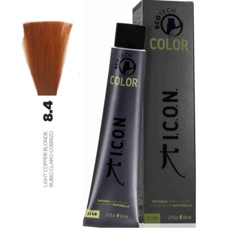 Tinte ICON Ecotech Color Rubio Claro Cobrizo 8.4