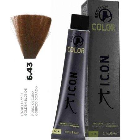 Tinte ICON Ecotech Color Rubio Oscuro Cobrizo Dorado 6.43 sin alcohol, amoníaco ni ppd