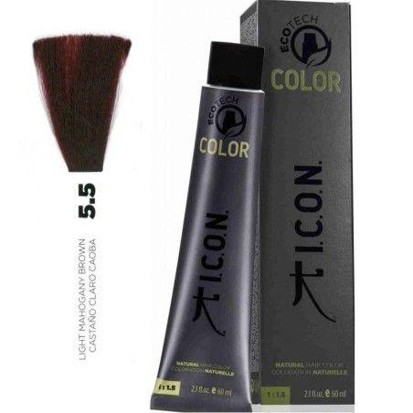 Tinte ICON Ecotech Color Castaño Claro Caoba 5.5