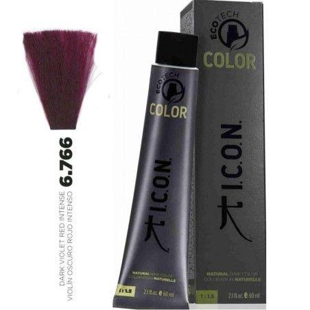 Tinte ICON Ecotech Color Violín Oscuro Rojo Intenso 6.766 sin alcohol, amoníaco ni ppd