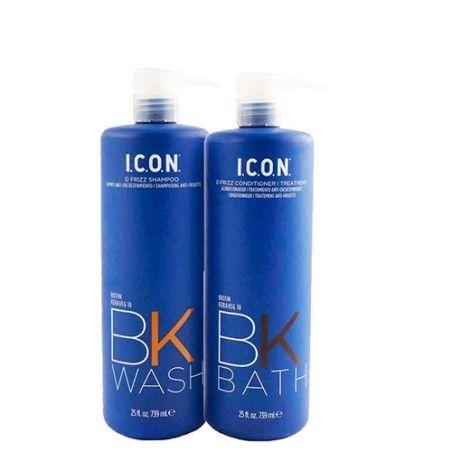 Pack Icon Antiencrespamiento BK Wash + BK Bath 739ml
