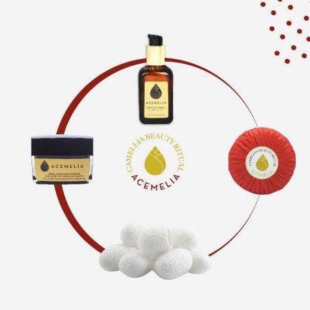 Pack Beauty Ritual Acemelia - Aceite, jabón y crema de aceite de camelia