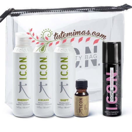 Pack Icon DETOX Viaje: Energy + Shift + Awake + Done + Aceite India + Neceser