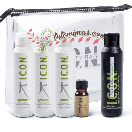 Pack Icon DETOX Viaje: Energy + Shift + Awake + Protein + Aceite India + Neceser