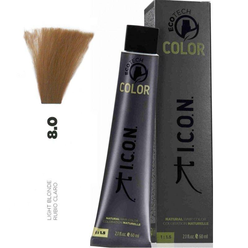 Tinte ICON Ecotech Color Rubio Claro 8.0
