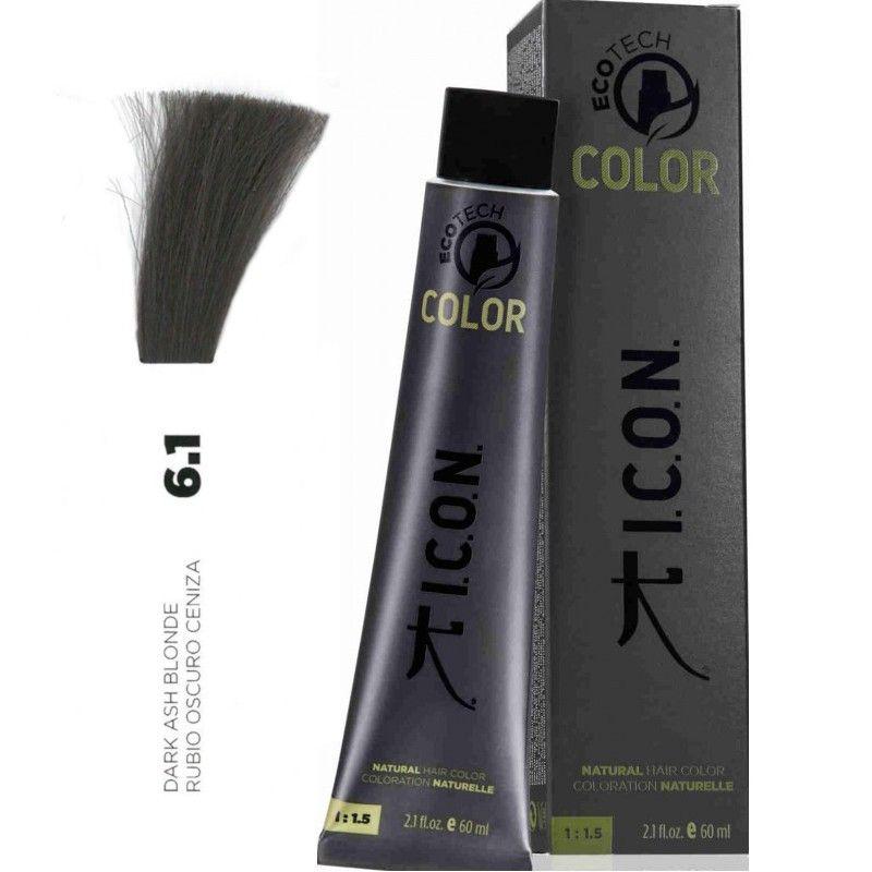 Tinte ICON Ecotech Color Rubio Oscuro Ceniza 6.1
