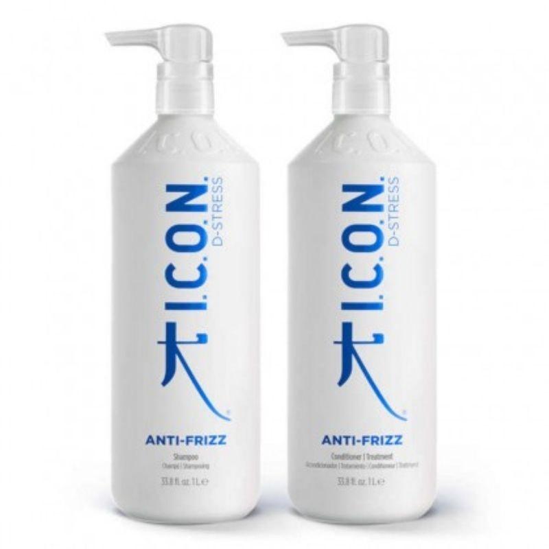 Pack ICON Antifrizz: Champú + Acondicionador 1 Litro