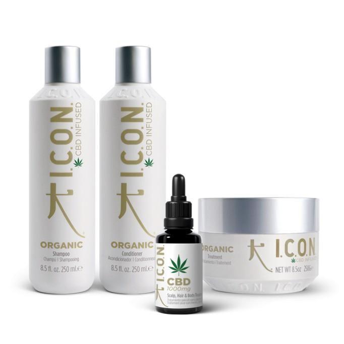 Pack ICON Organic: Champú Acondicionador Tratamiento y Aceite + Mochila